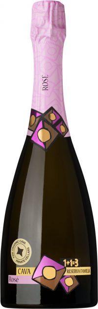 Cava Pinot Noir Rosé Organic 1+1=3 Reserva Familia